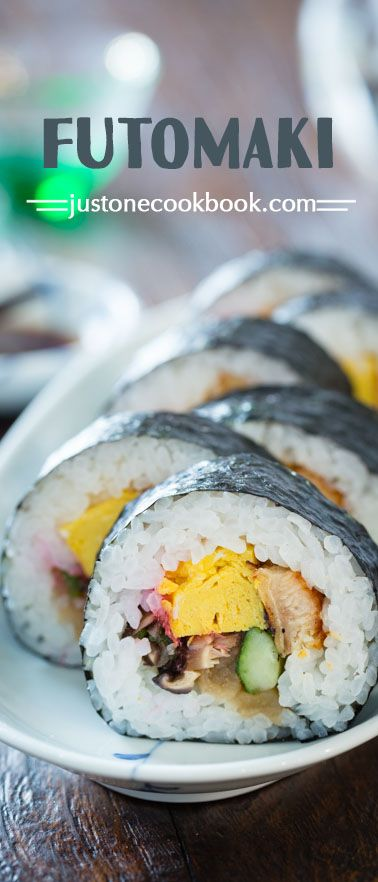 Futomaki (太巻き) - Traditional Japanese Sushi Roll | Easy Japanese Recipes at JustOneCookbook.com