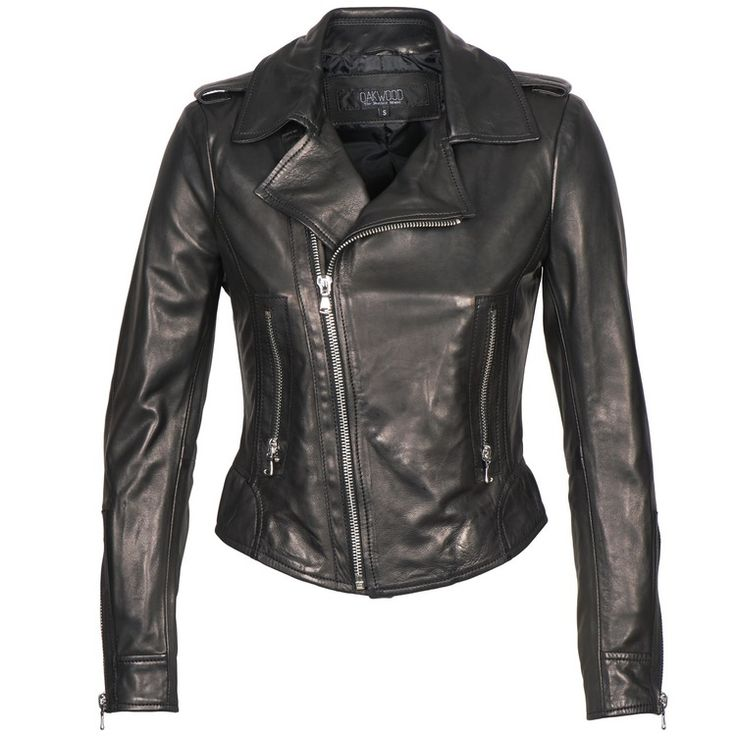 Oakwood 60945 women's Leather jacket in Black