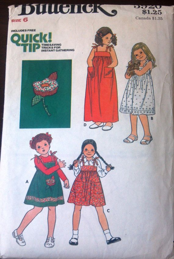 Butterick 5920 Pattern for Girls' Dress with by VictorianWardrobe, $4.00