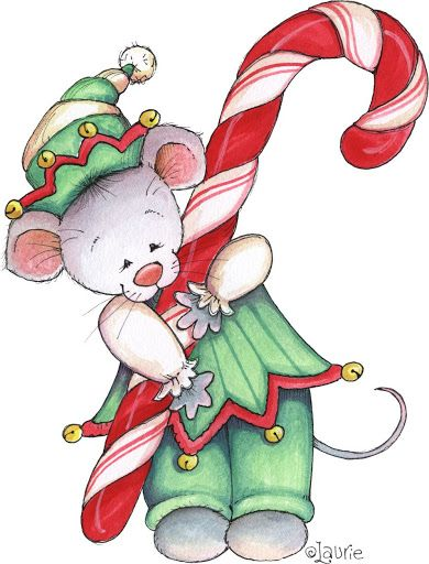 christmas mouse clipart - photo #8