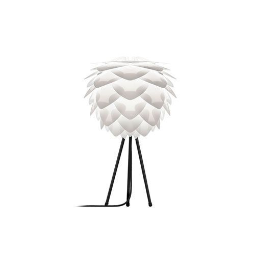 Silvia Mini White Table Lamp with Black Tripod Stand