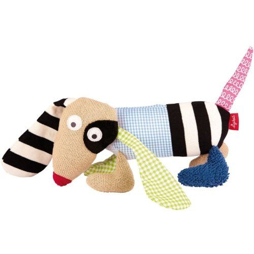 sigikid - Ludolinis - Schlummerfigur Hund  - Größe: ca. 20 cm  - Obermaterial: Baumwolle  - Füllung: Polyesterwatte  - waschbar bei 30°C