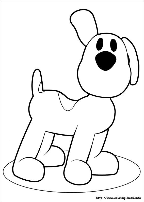 Pocoyo Friends Coloring Pages