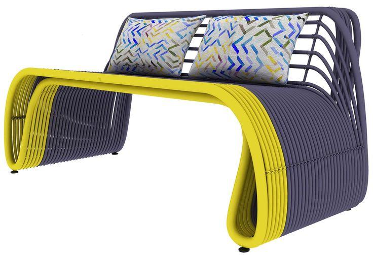 Ikat-Ribbon Chair Rattan Furniture