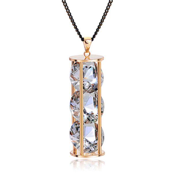 Yeni Dalga yıldız büyük aşk para, moda gerçek SWA kristal kazak zincir kolye, Vahşi tarzı uzun halat kolye kolye. (N65033)