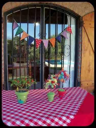 Banderines De Tela. Ideales Para Tu Fiesta O Decoración!