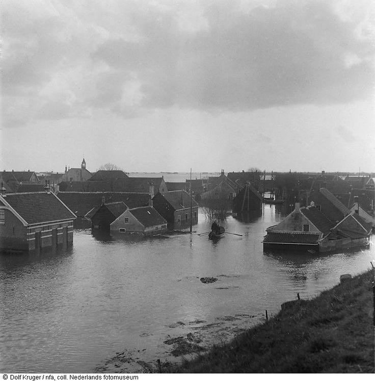 1953 - Overstroomd dorp Dreischor > (Schouwen en) Duiveland - Zeeland - NL