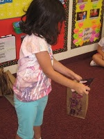First Grade Flutters: Favorite 1st day of school activity - purple plastic purse