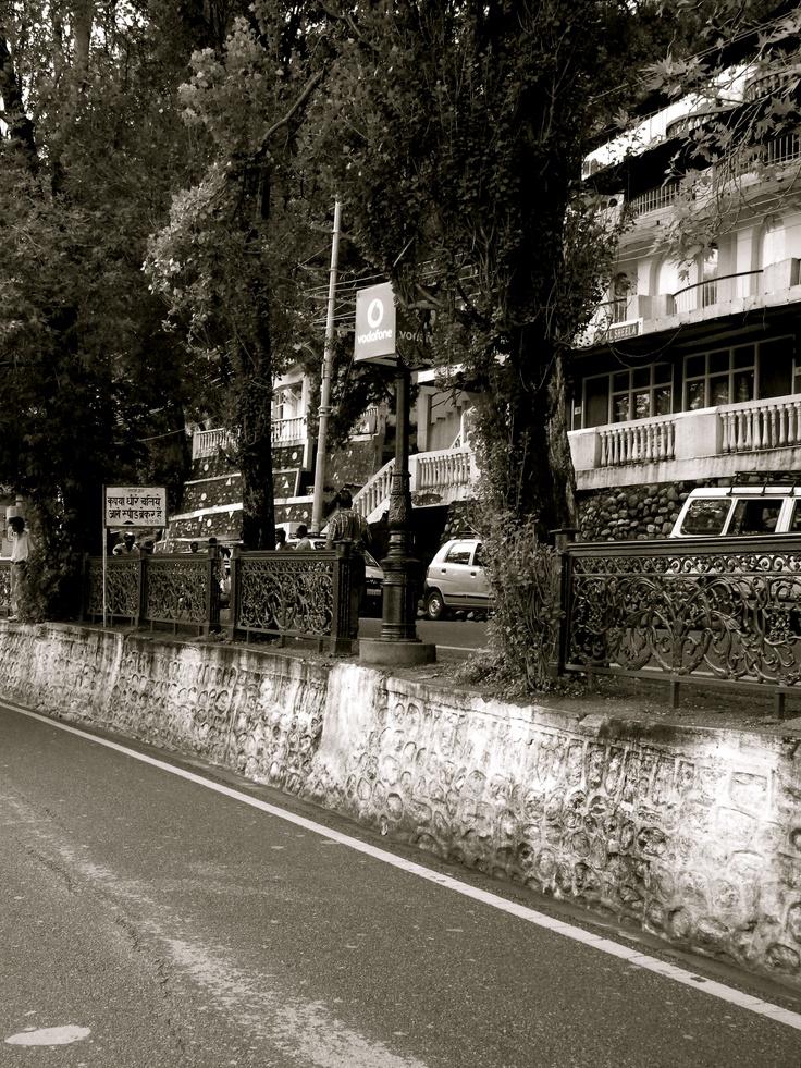 Mall road, Nainital . INDIA