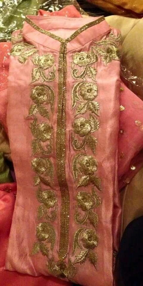 Machine Embroidered Radiant Silk Suit in Peach Color With Dupatta @nivetas visit…