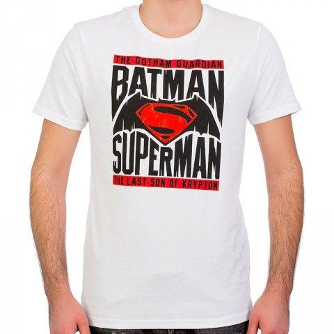 Batman v Superman Beyaz Erkek T-Shirt