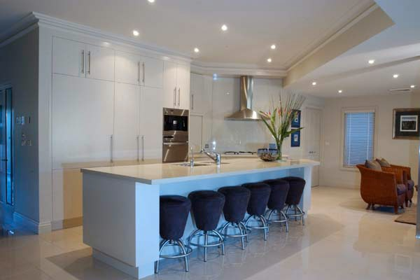Residential Interior Design Company in Sydney – Karanda Interiors #residential #interior #design #sydney #kitchen #white #barstools