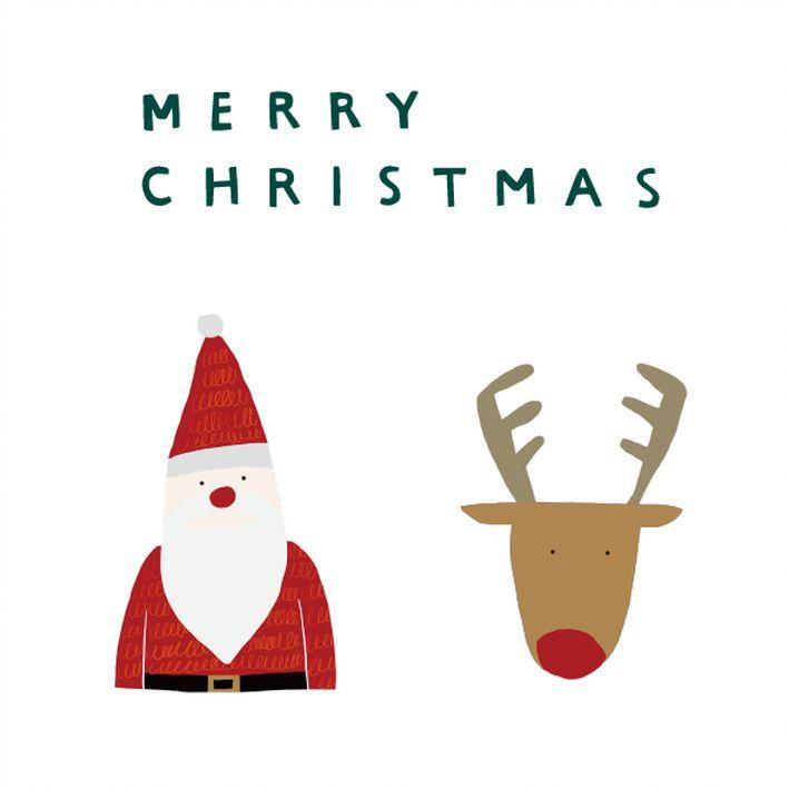 Illustration Christmas Winter Christmas Xmas Santaclaus Art Illustration Cute 冬 クリスマス サンタ トナカイ オシャレ デザ クリスマス イラスト おしゃれ クリスマスカードのデザイン トナカイ クリスマス