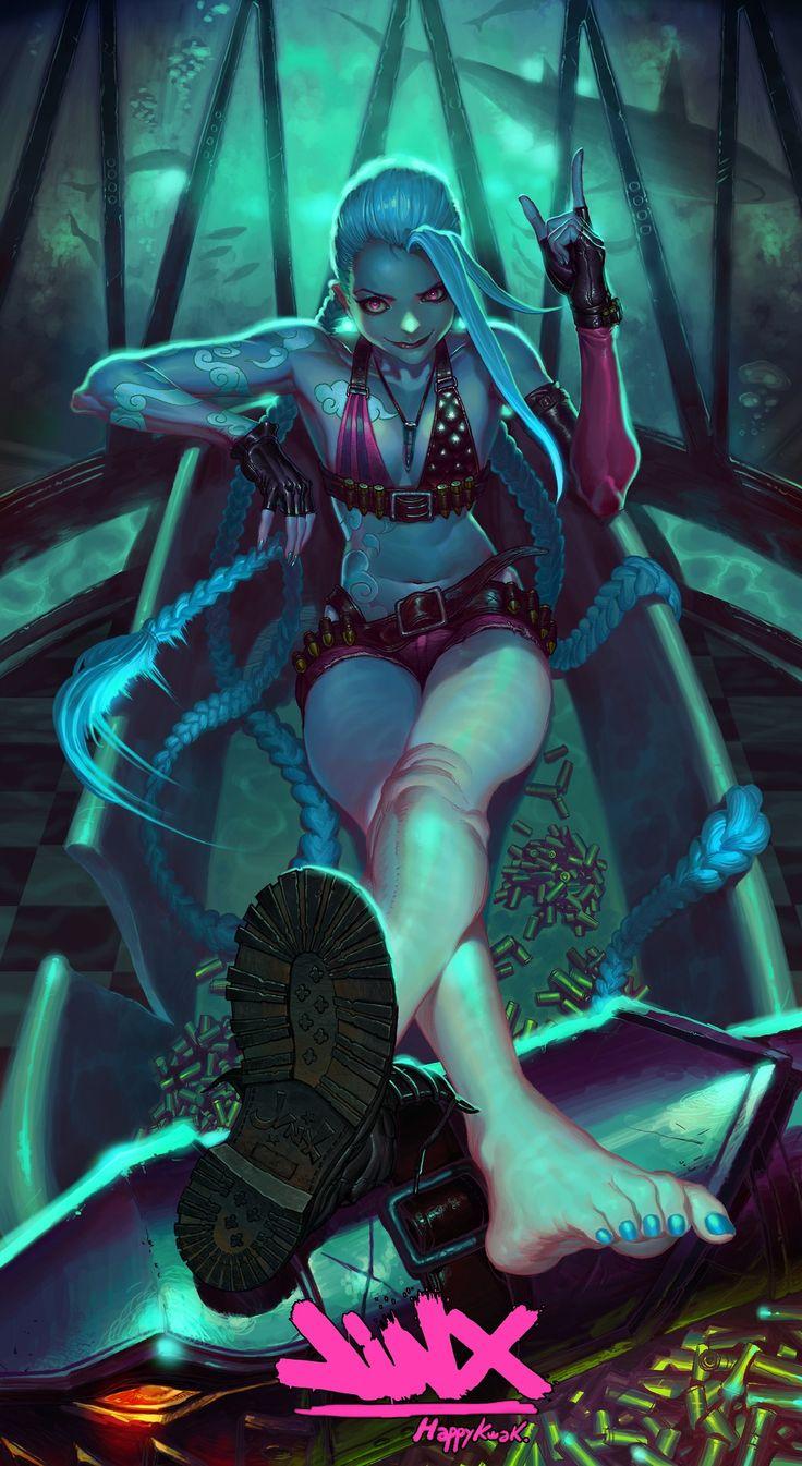 ✧ #characterconcepts ✧ Jinx!  League of Legends by HappyKwak.