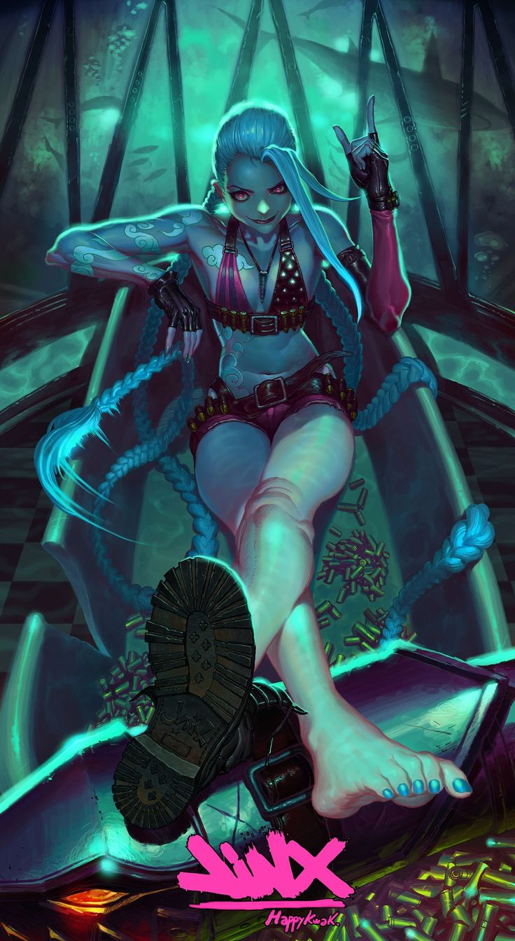 ✧ #characterconcepts ✧ Jinx! League of Legends by HappyKwak.