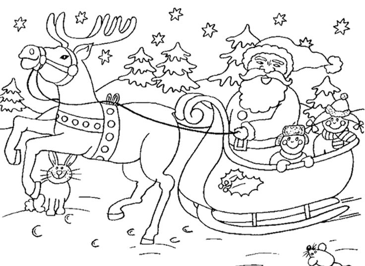 Christmas colouring pages santa google search