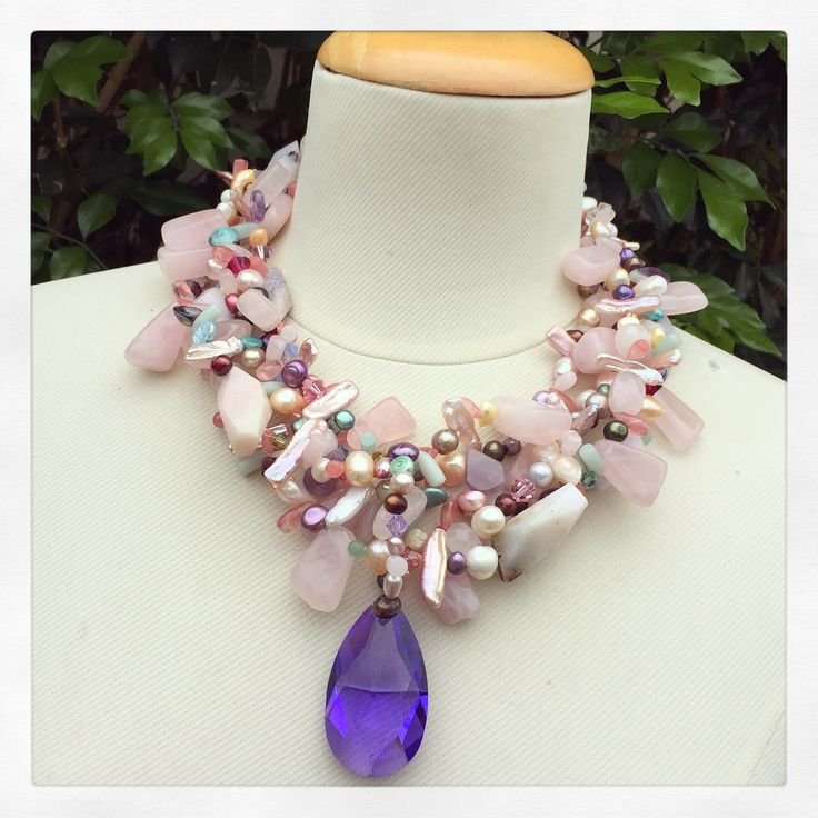 Statement Necklace, Statement Jewels, Statement Jewely, Statement Jewellery, Statement Choker, crystal pendant, Sonia M Designs