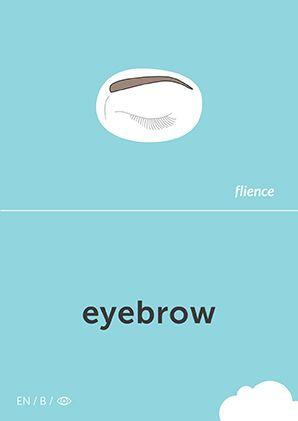 Eyebrow #CardFly #flience #human #english #education #flashcard #language