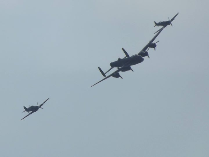 Eastbourne Airshow - 13/08/2016 - Battle of Britain Memorial Flight - Avro Lancaster Supermarine Spitfire & Hawker Hurricane