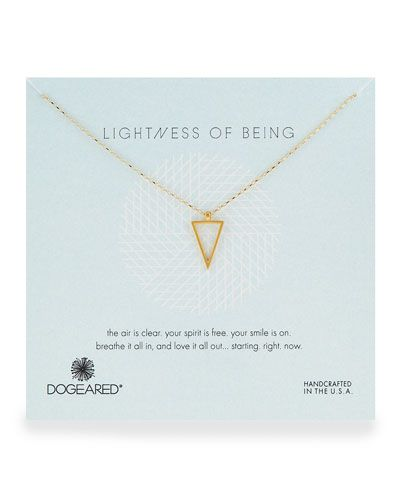 Y2UG9 Dogeared Air Triangle Gold-Dipped Pendant Necklace
