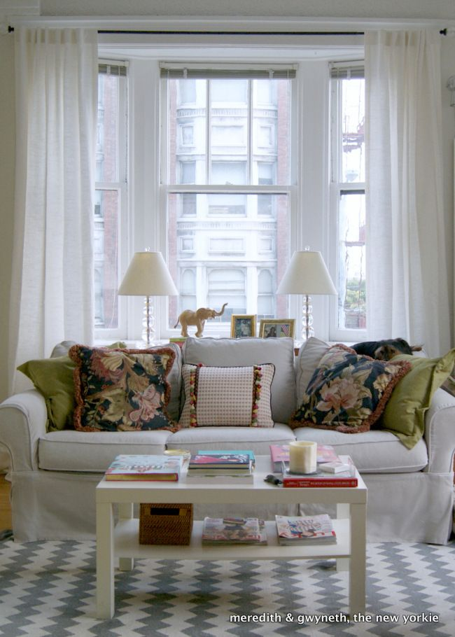 San Francisco Living Room Couch In Front Of Bay Window