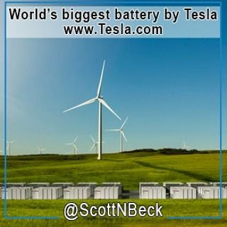 #Tesla has activated the world's largest battery in #Australia. This mega-battery is now supplying power to an electricity grid in South Australia and they are designed to store #RenewableEnergy from a wind farm. This will make it easier for many to get #CleanEnergy without having to worry about blackouts. #GoGreen #EcoFriendly #ElonMusk #Tech #Technology @ScottNBeck