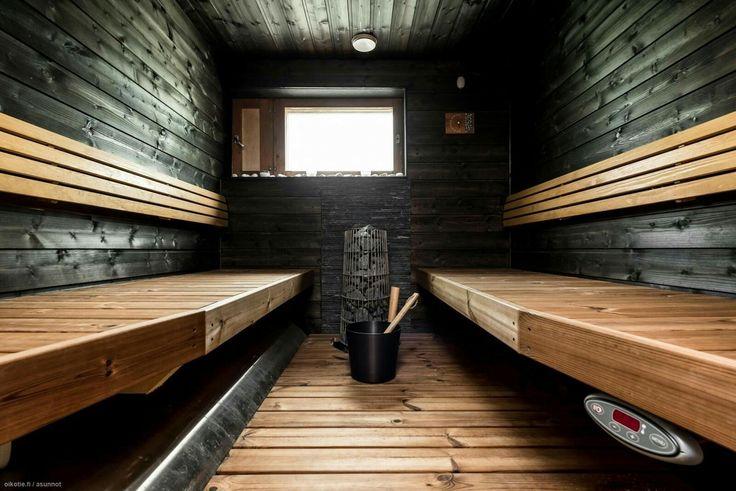 Musta sauna seinä