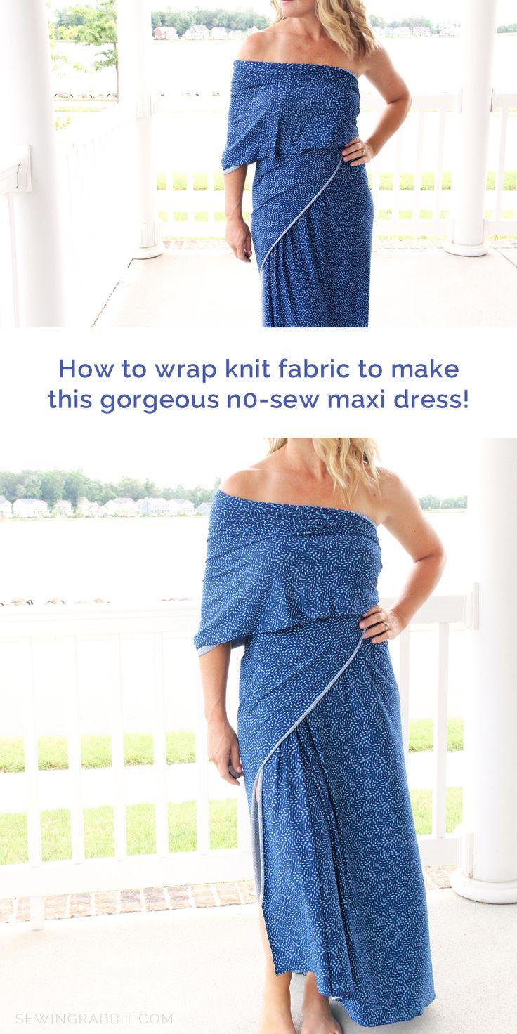 No sew maxi dress