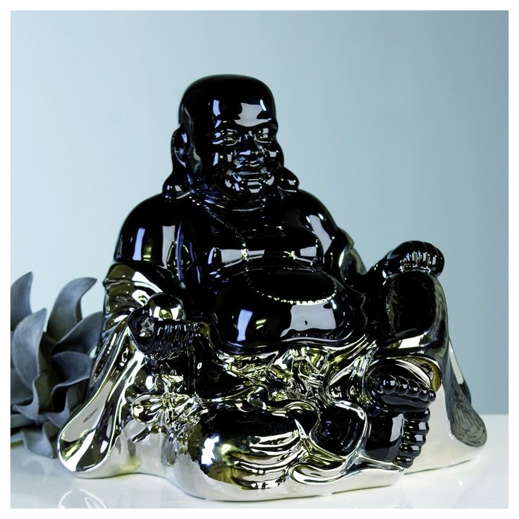 "Dekorativer großer Buddha ""Relax"""