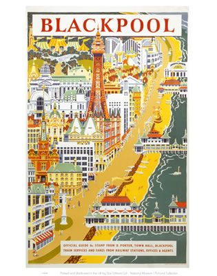 'Blackpool', BR (LMR) poster, 1955. Poster produced for British Railways (BR)…
