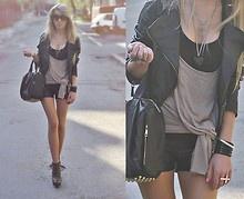 Rocker: Studs, Edgy Style, Rocks Stars, Jackets, Girls Outfits, Closet, Bags, Black, Boots