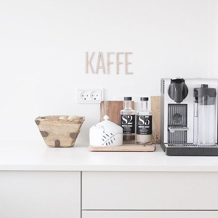 The new wooden letters is not only for the nursery ☕️ here you see them in @fiekirstine89 kitchen