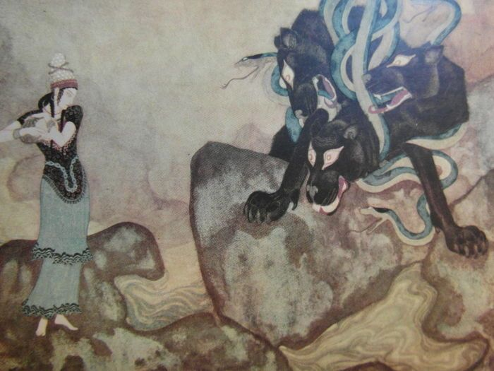 Geïllustreerd; Edmund Dulac's Picture book for the French Red Cross - 1915