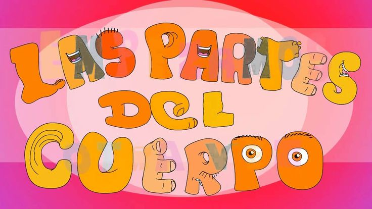 Las partes del cuerpo . Song to learn the Parts of the body in Spanish f...