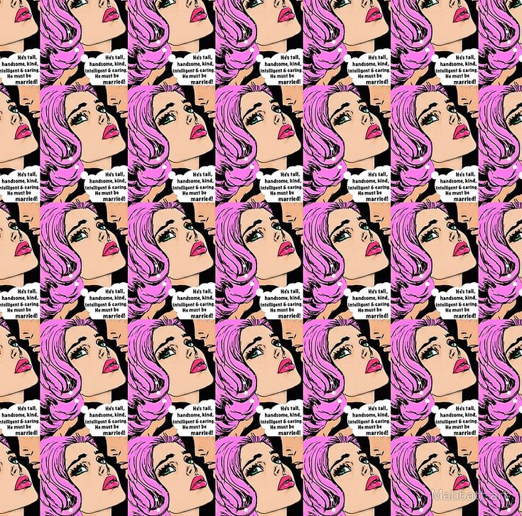 Pink pop art romance, tears, kisses