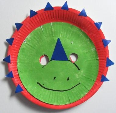 #knutselen met #kinderen: #DIY DINO van papierbordje