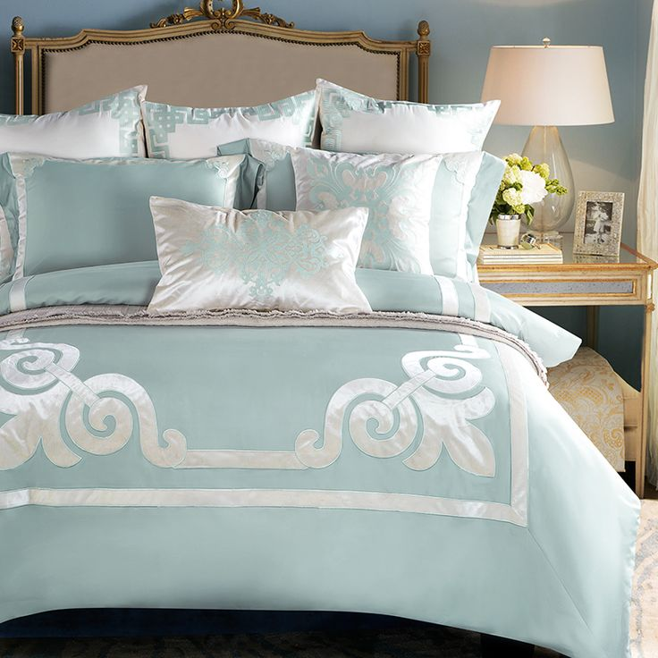 2017mandala style Embroidery green linens duvet cover set tencel Queen Double/King Size bedding sets #Affiliate