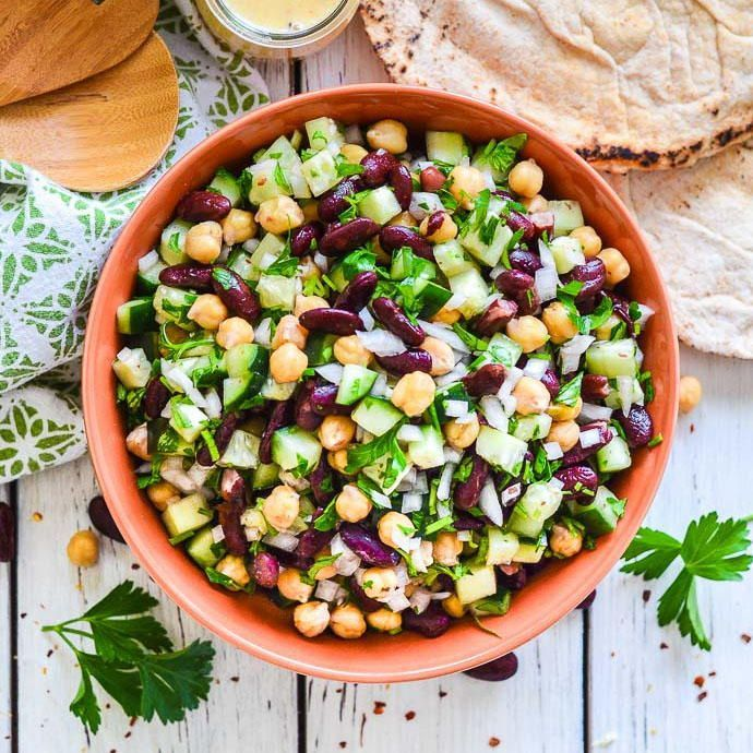 Kidney Bean Salad With Lemon Parsley This Kidney Bean Salad With Lemon Parsley Is Zesty Light A Kidney Bean Salad Recipes With Kidney Beans Bean Salad