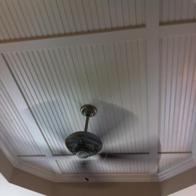 bead board inside your tray ceiling - Beadboard Ceiling