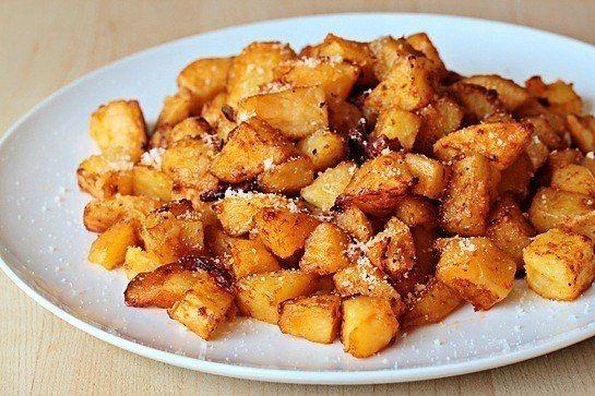 печённый картофель с пармезаном