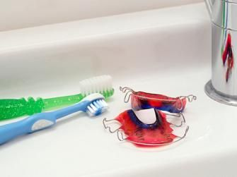 Tips for Cleaning Dental Retainers or dental appliances.