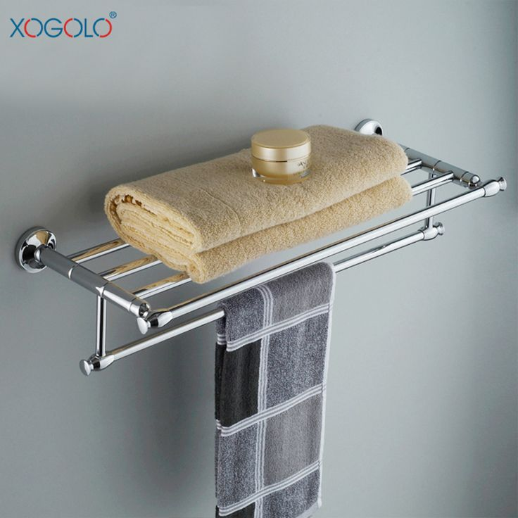 Купить товарXogolo вся медь ванной вешалка для полотенец вешалка для полотенец бар ванная комната полотенце дважды ванной аппаратных аксессуаров 3388 в категории Вешалки для полотенецна AliExpress.