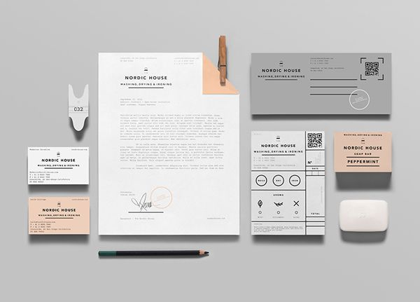 Nordic House - Logo and stationery design by Anagrama