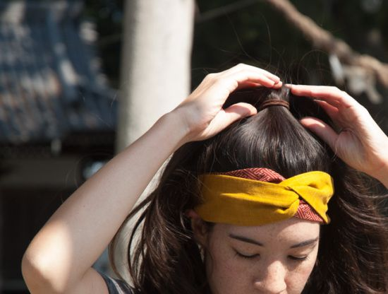 DIY Japanese Hairband  www.hellosweaterclub.com