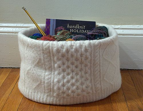 knitted knitting basket!