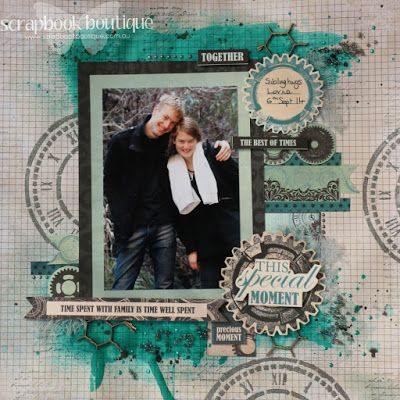 This special moment by Judith Armstrong for Scrapbook Boutique using Kaisercraft Time Machine
