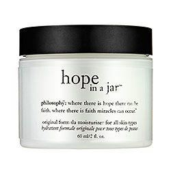 Philosophy Hop in a Jar... best moisturizer