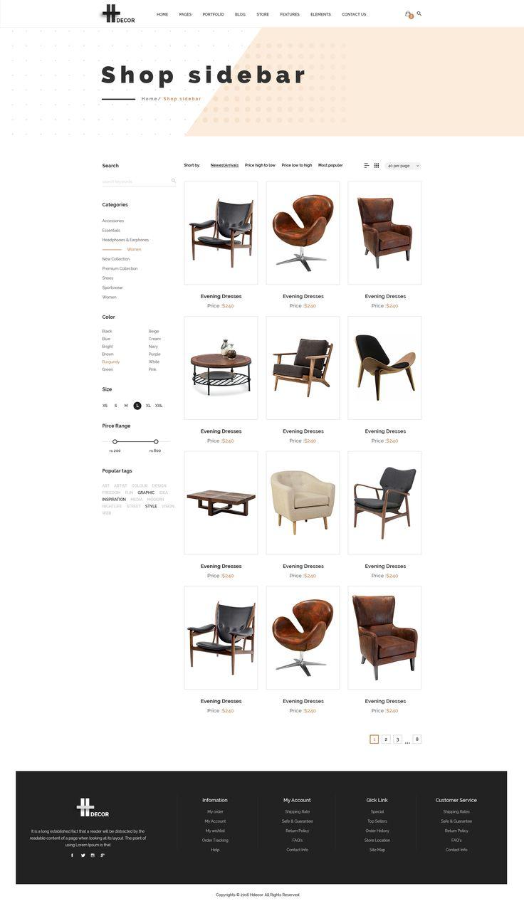 H Decor - 家具业务的创意PSD模板在线由lunartheme
