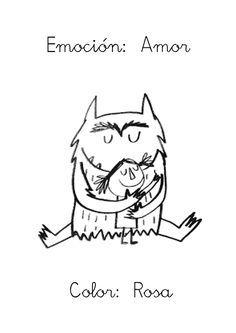 """Me faltaba subir la última emoción del libro """"El monstruo de colores"""": EL AMOR Reconozco que a los niños les dio risa y algo de vergüe..."""