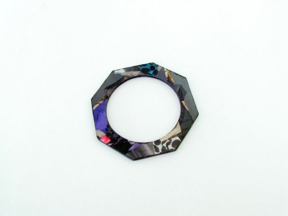 Acrylic BangleCollage BraceletIllustrated by SotiriaVasileiou, $23.00